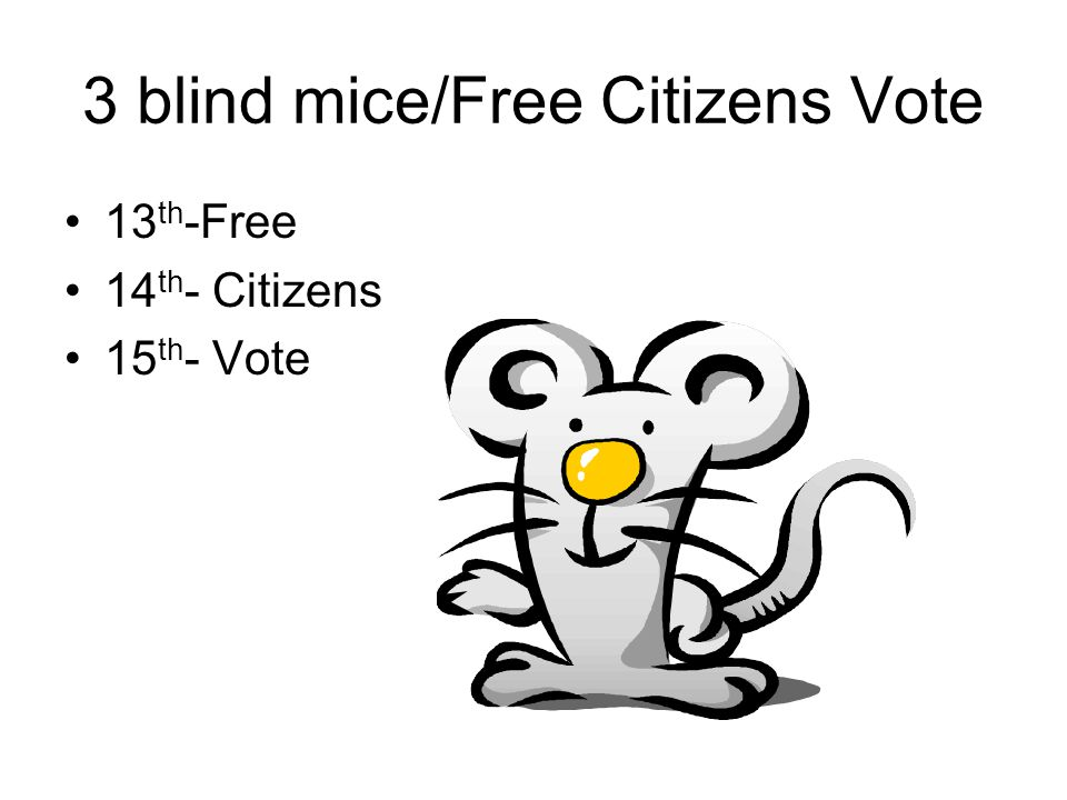 3 blind mice/Free Citizens Vote