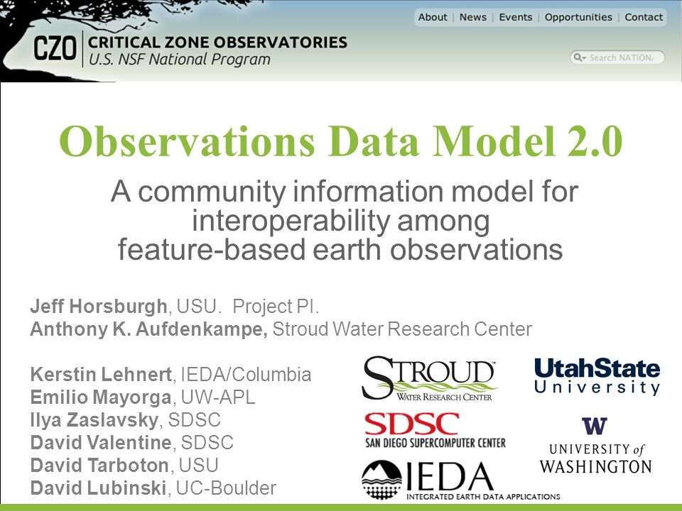 Observations Data Model 2.0