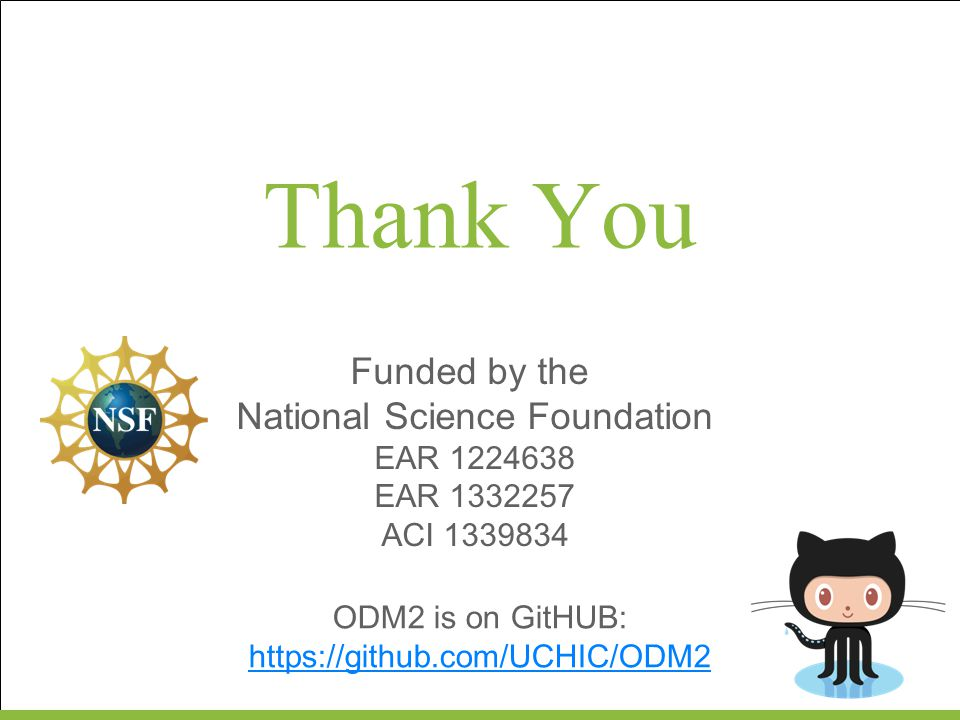 Thank You Funded by the National Science Foundation EAR 1224638