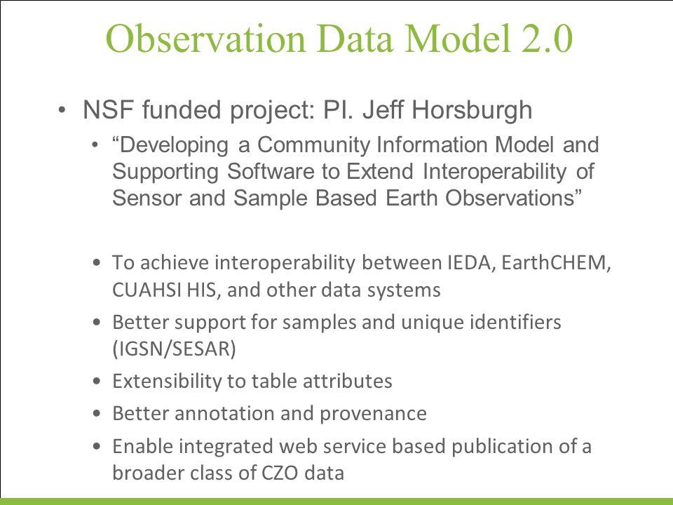 Observation Data Model 2.0