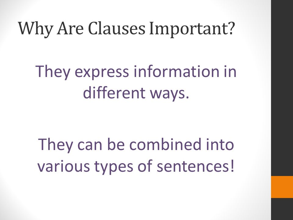 Why Are Clauses Important