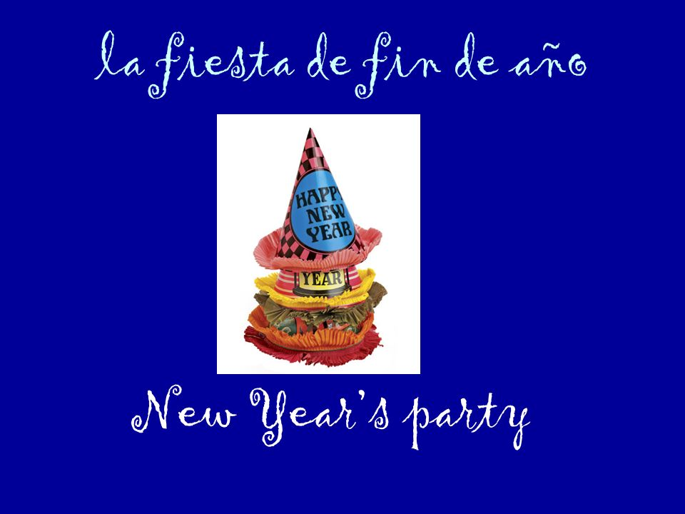 la fiesta de fin de año New Year's party