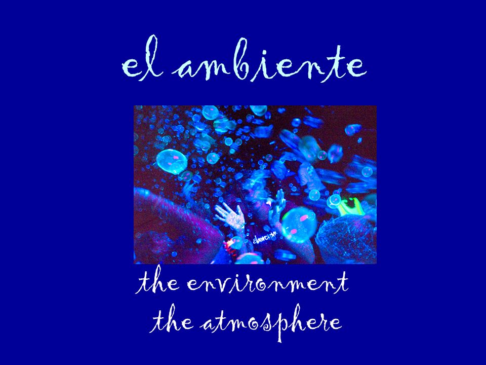 el ambiente the environment the atmosphere