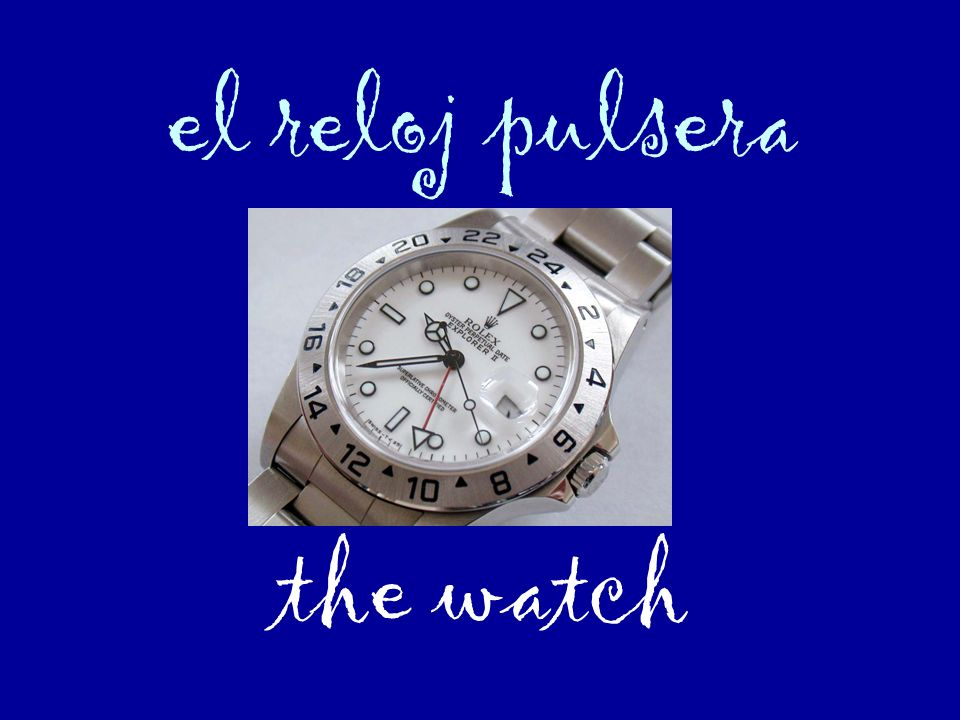 el reloj pulsera the watch