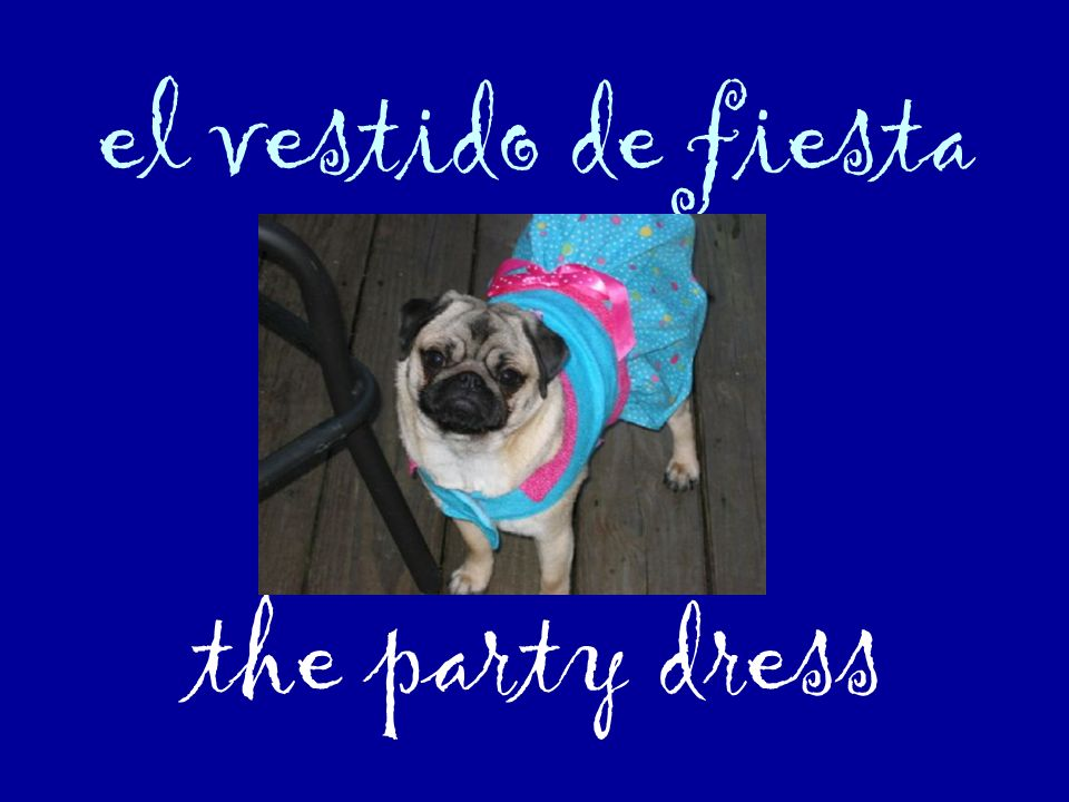 el vestido de fiesta the party dress