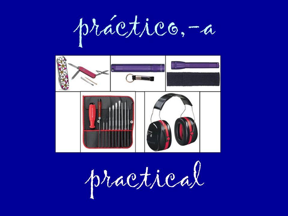 práctico,-a practical