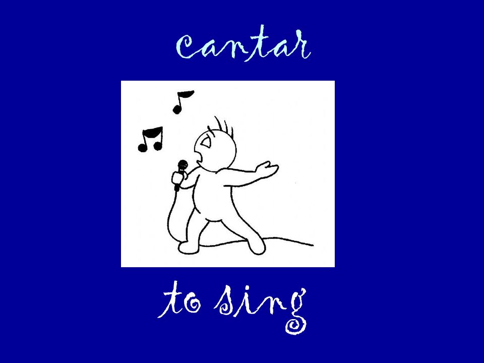 cantar to sing
