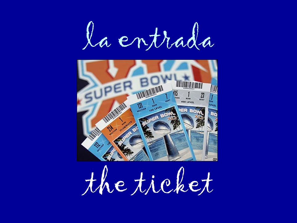 la entrada the ticket