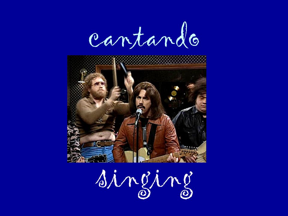 cantando singing