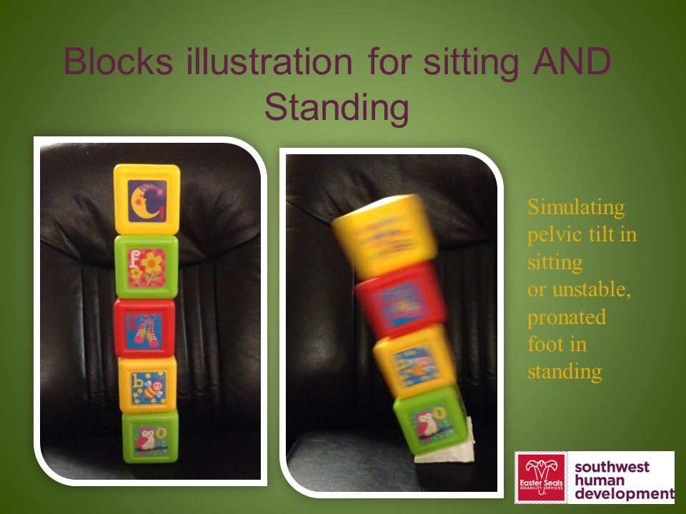 Blocks illustration for sitting AND Standing