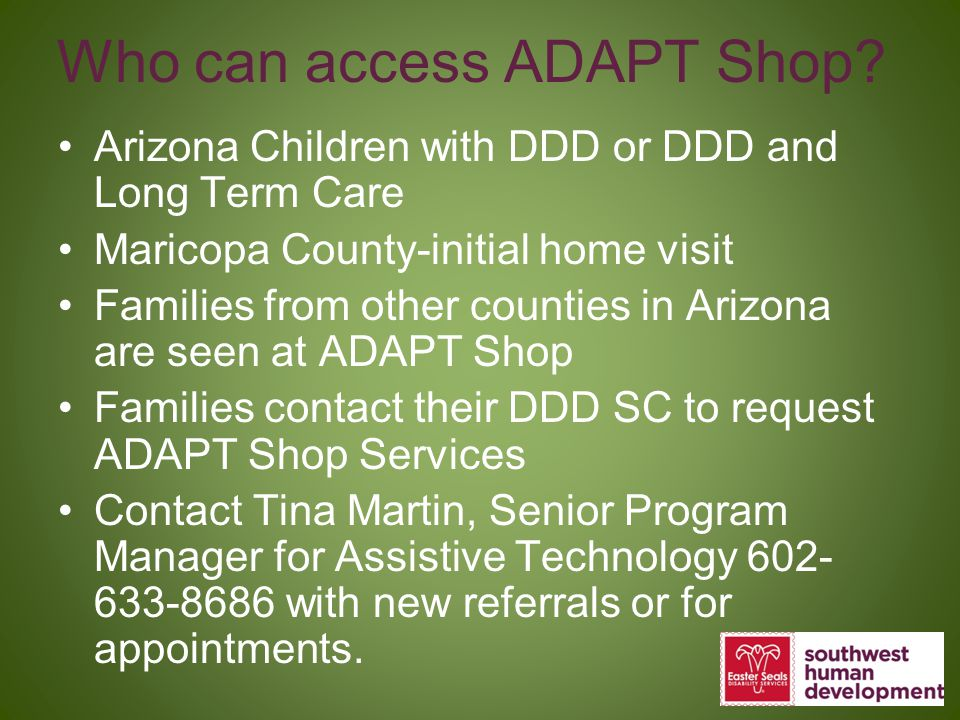 Who can access ADAPT Shop