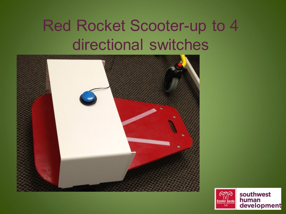 Red Rocket Scooter-up to 4 directional switches