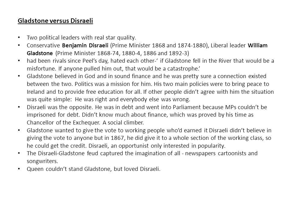Gladstone versus Disraeli