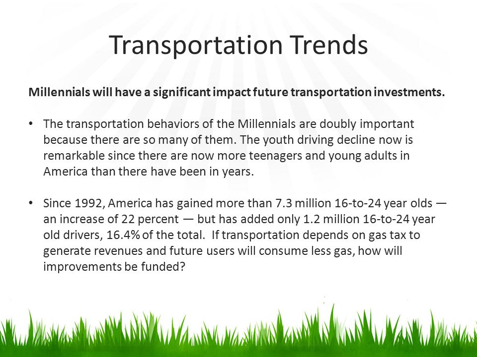 Transportation Trends