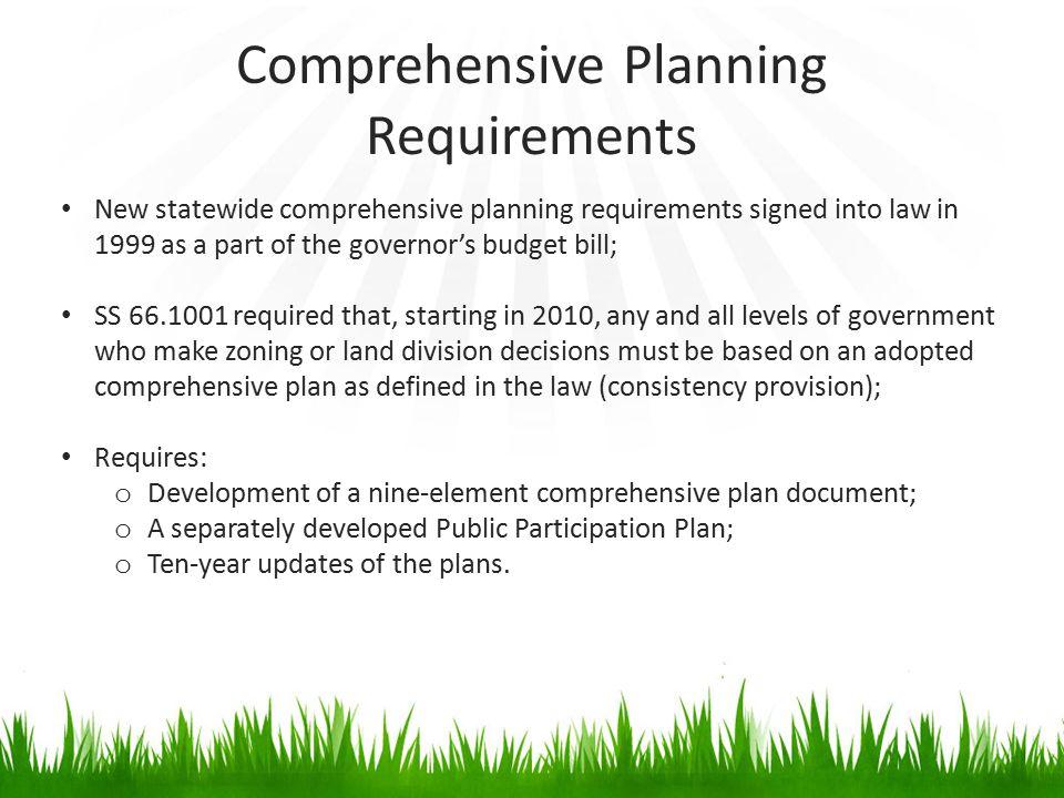 Comprehensive Planning Requirements
