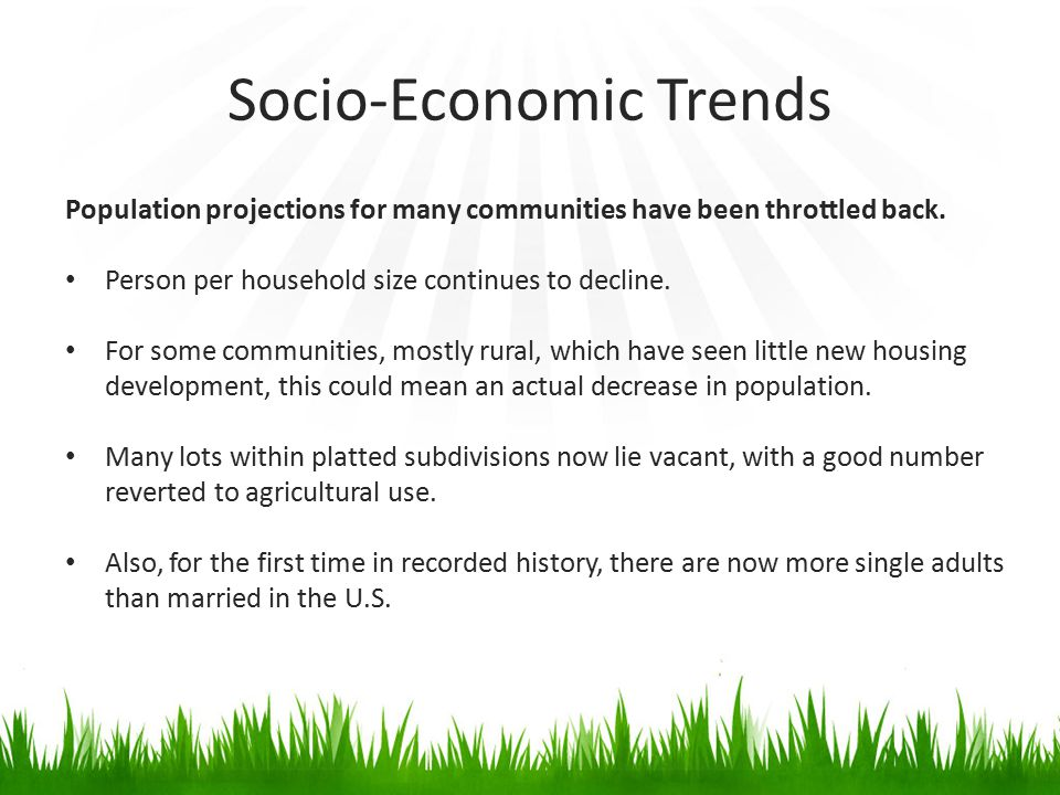 Socio-Economic Trends