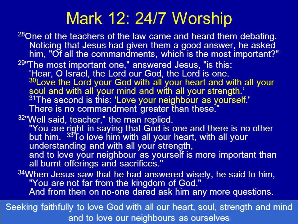 Mark 12: 24/7 Worship