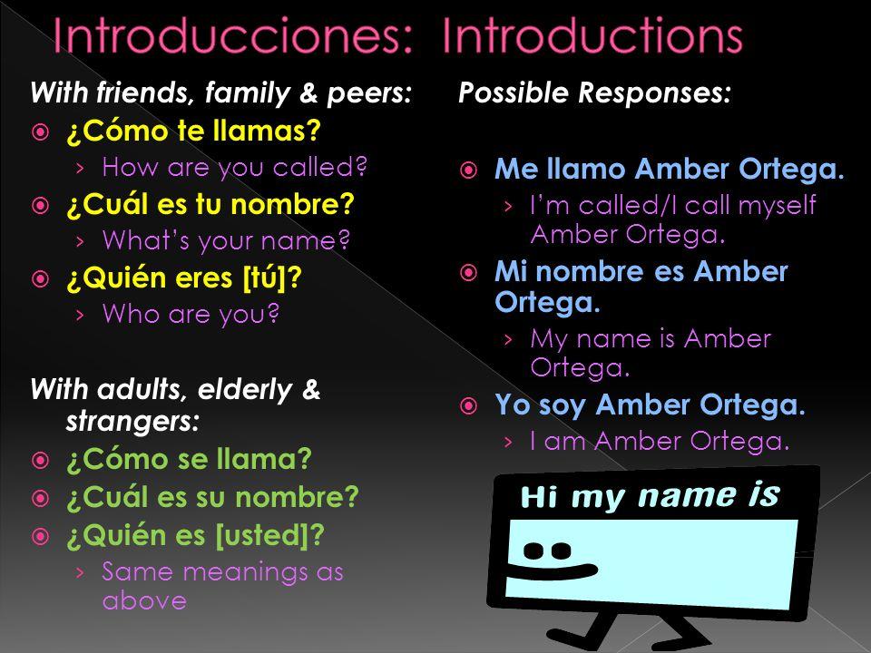 Introducciones: Introductions