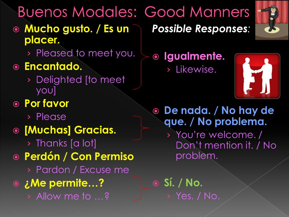 Buenos Modales: Good Manners