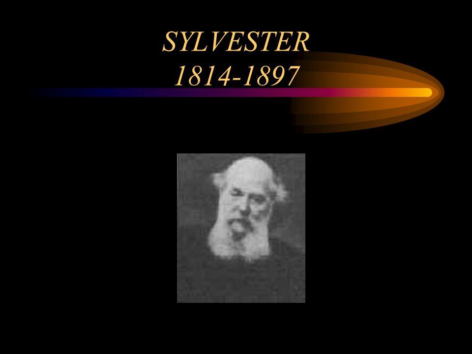 SYLVESTER 1814-1897