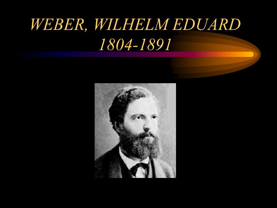 WEBER, WILHELM EDUARD 1804-1891