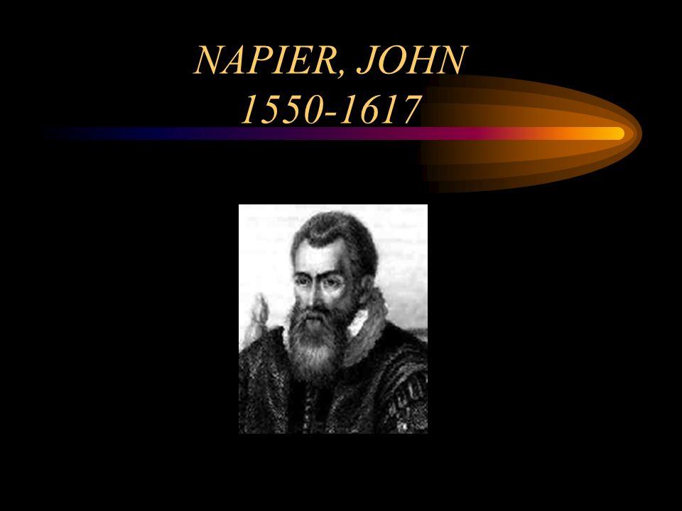NAPIER, JOHN 1550-1617