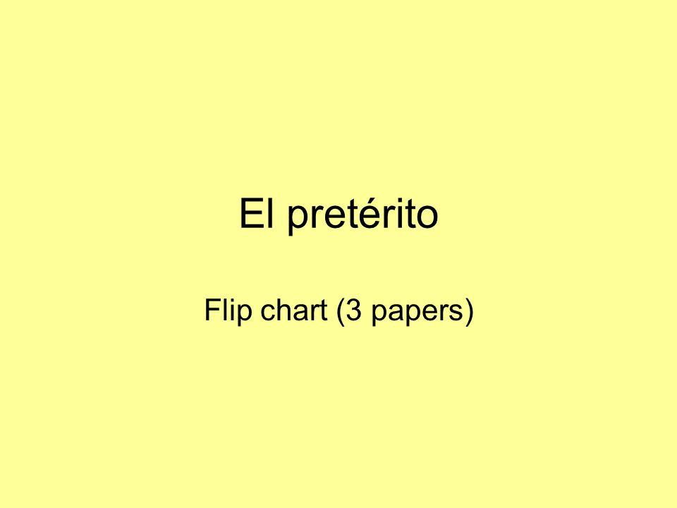 El pretérito Flip chart (3 papers)
