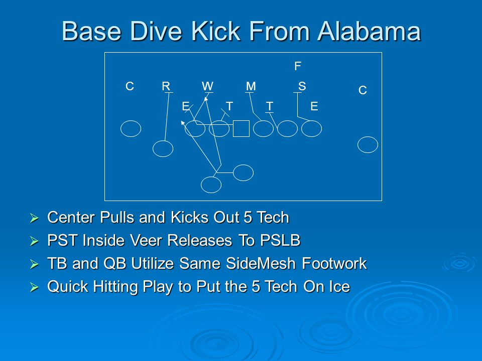 Base Dive Kick From Alabama