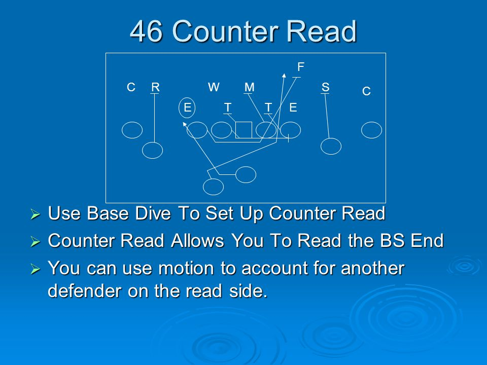 46 Counter Read Use Base Dive To Set Up Counter Read
