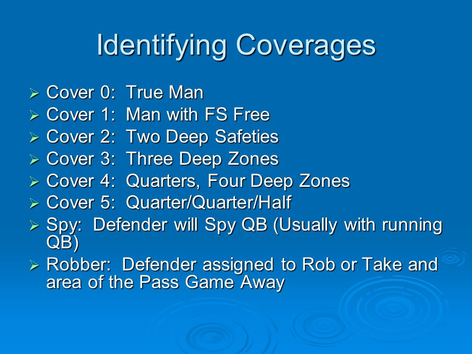 Identifying Coverages