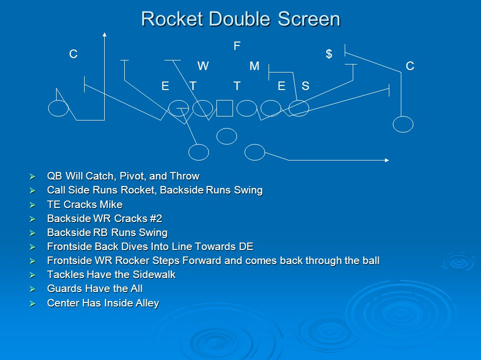 Rocket Double Screen F C $ W M C E T T E S