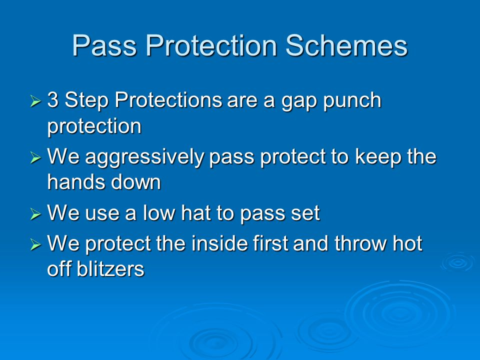 Pass Protection Schemes
