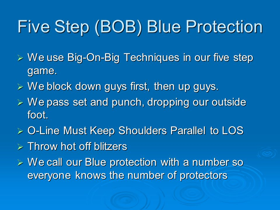Five Step (BOB) Blue Protection