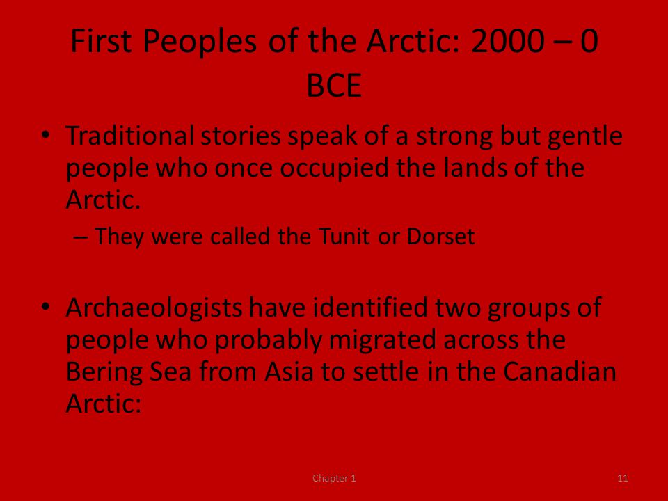 First Peoples of the Arctic: 2000 – 0 BCE
