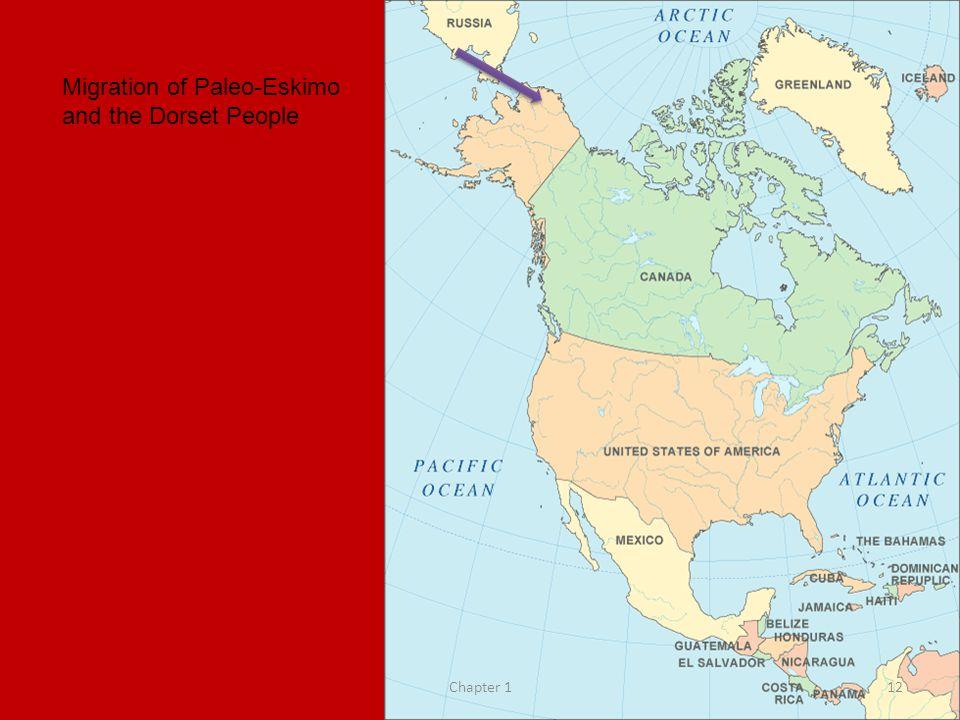 Migration of Paleo-Eskimo and the Dorset People