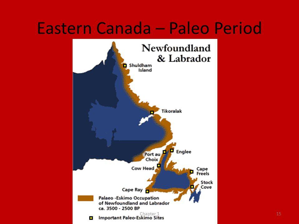 Eastern Canada – Paleo Period