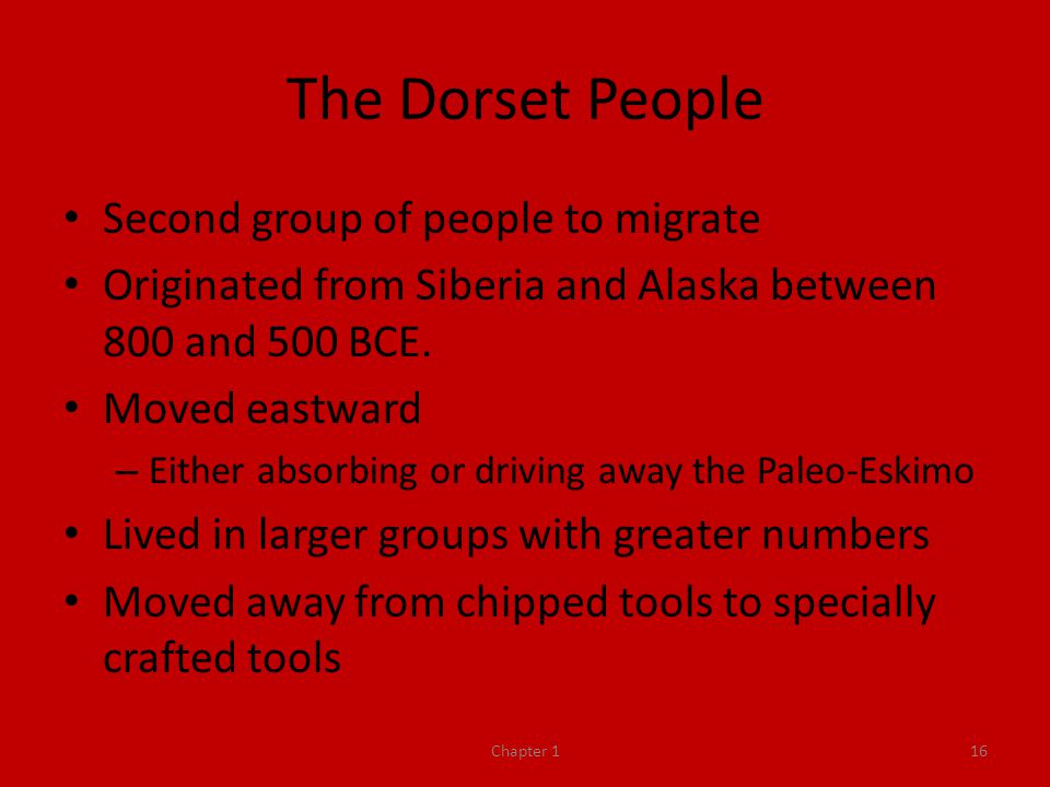 The Dorset People Second group of people to migrate