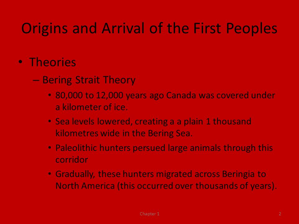 Origins and Arrival of the First Peoples