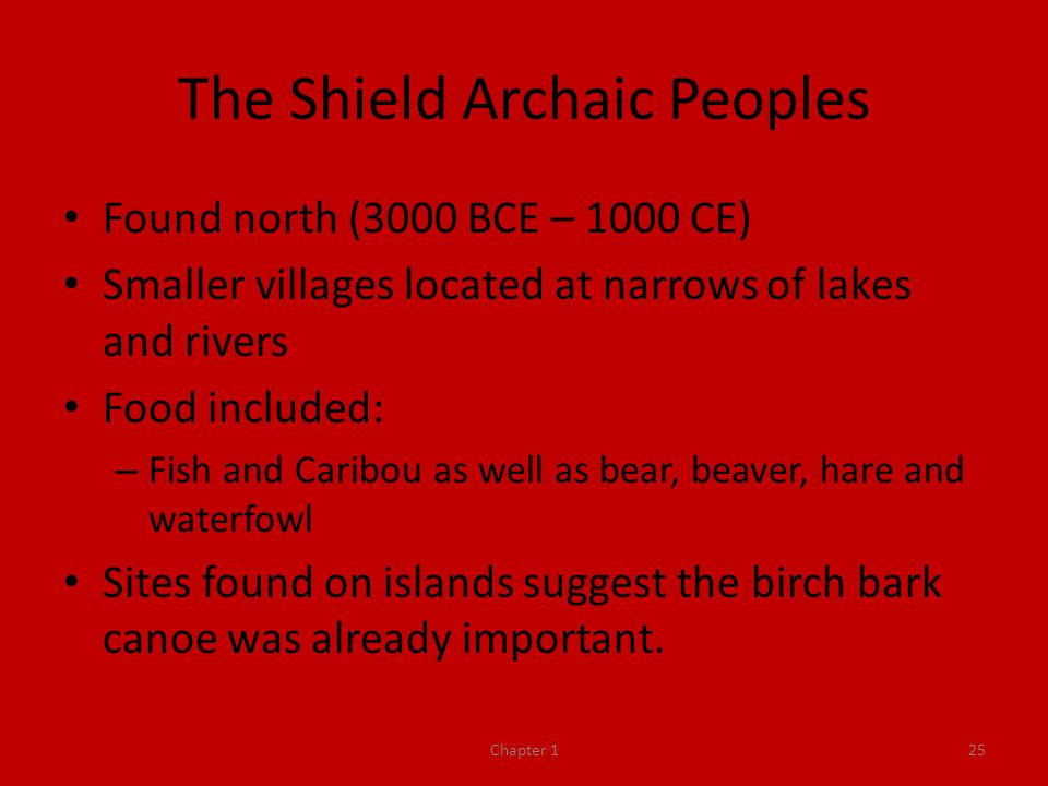 The Shield Archaic Peoples