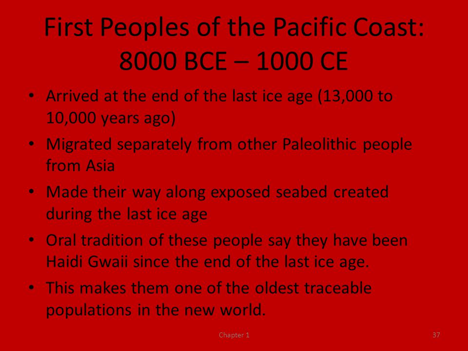 First Peoples of the Pacific Coast: 8000 BCE – 1000 CE