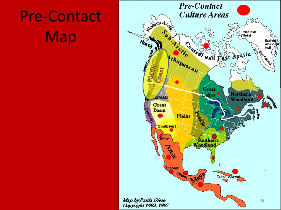 Pre-Contact Map Pacific Coast Chapter 1