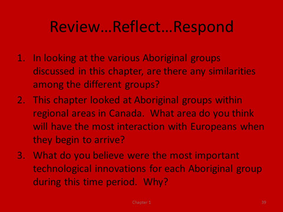 Review…Reflect…Respond