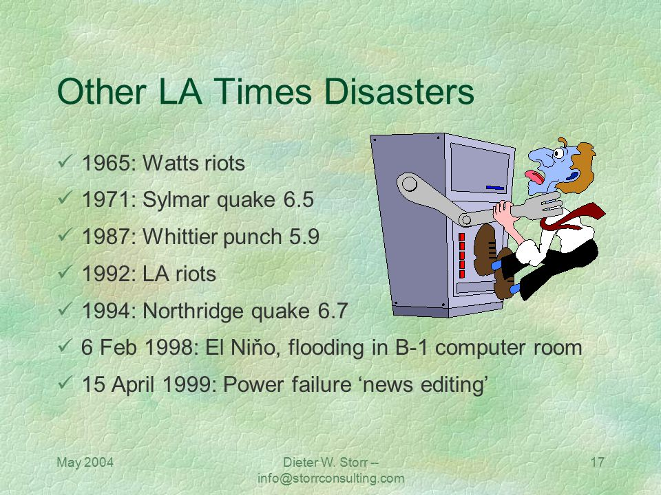 Other LA Times Disasters