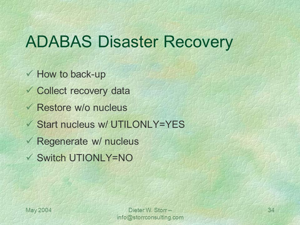 ADABAS Disaster Recovery