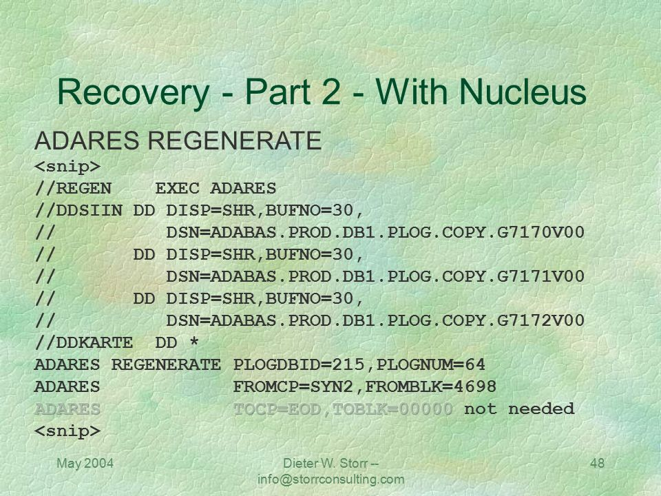 Recovery - Part 2 - With Nucleus