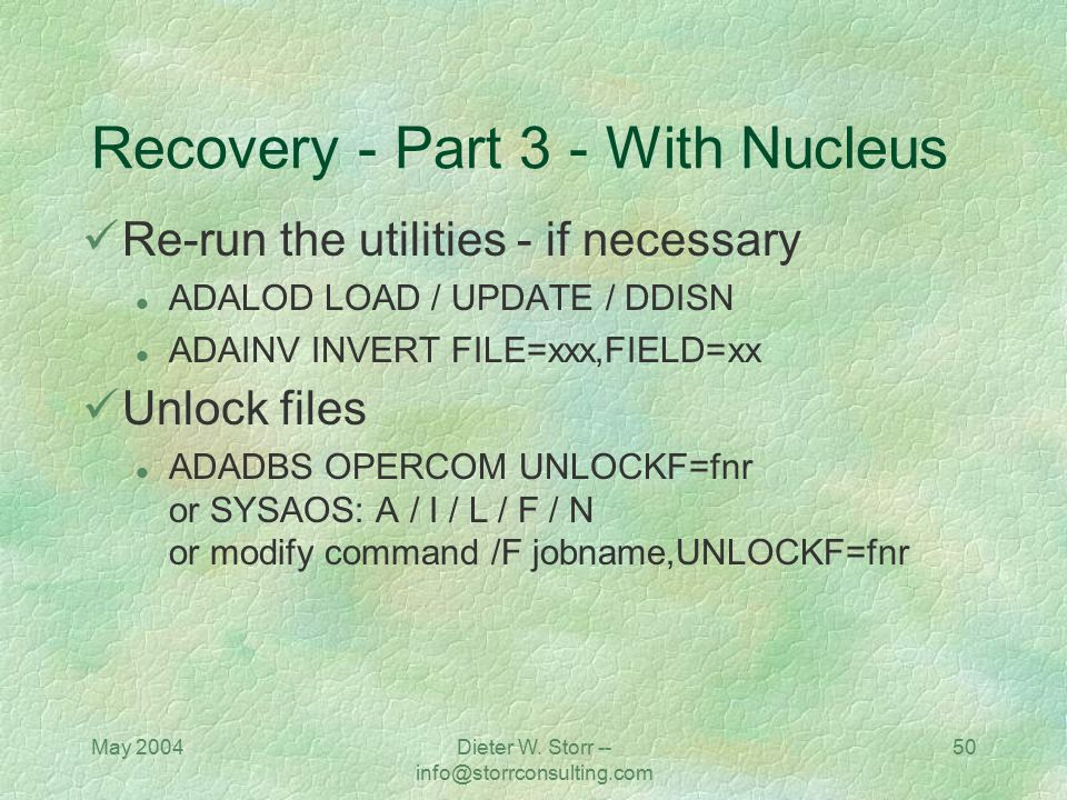 Recovery - Part 3 - With Nucleus