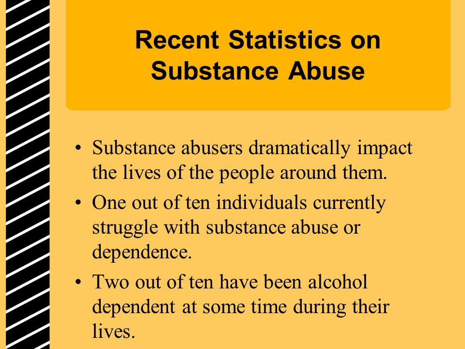 Recent Statistics on Substance Abuse