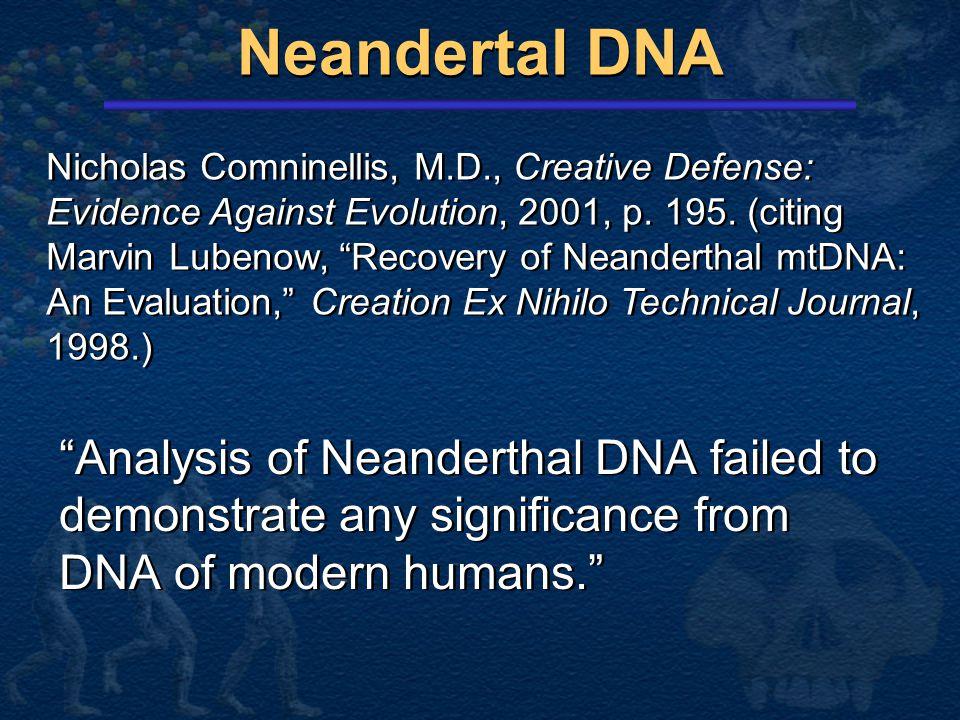 Neandertal DNA
