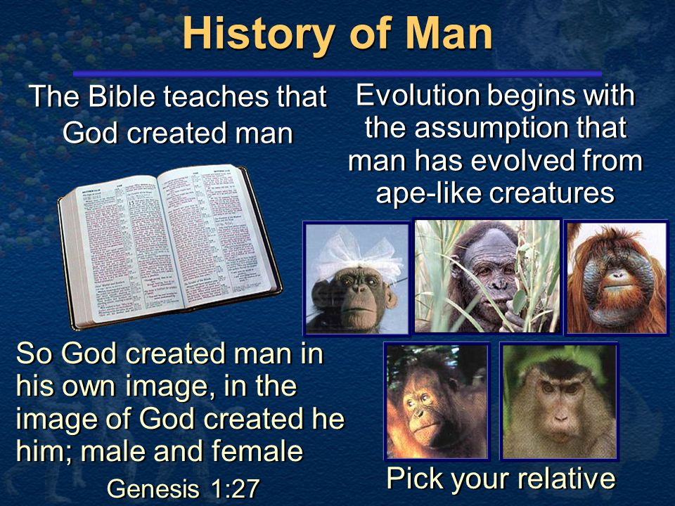 The Bible teaches that God created man
