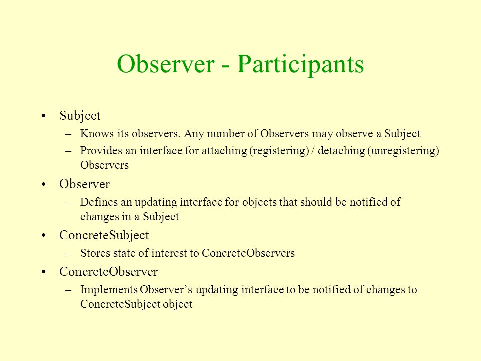 Observer - Participants